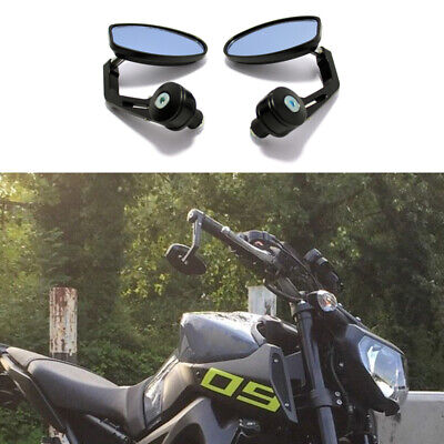 AU47.09 • Buy Black Motorcycle 7/8 /1  Bar End Rearview Mirror For Yamaha FZ09 FZ07 FZ03 MT125