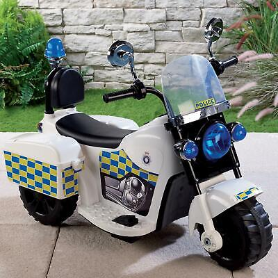 Police Ride On Kids Electric LARGE Bike 6V Forward, Reverse Ages 3+ Black F NEW • 59.99£