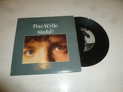 PETE WYLIE - Sinful - 1986 Limited Edition UK 4-track 7  Vinyl Single • 10£