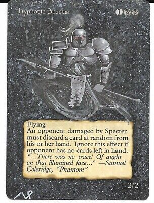 $37.77 • Buy Magic The Gathering - 1X Altered Art - Hypnotic Specter *Hand Painted* MTG Card