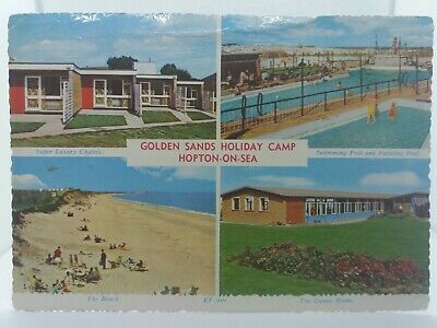 Vintage Multiview Postcard Golden Sands Holiday Camp Hopton On Sea 1968  Posted • 6.75£