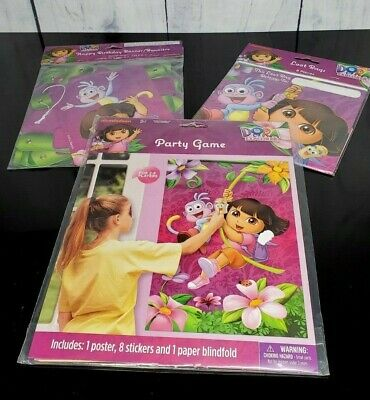 Dora The Explorer Birthday Banner - Birthday Party Pin-up Game - 8 Ct Gift Bags • 11.46£