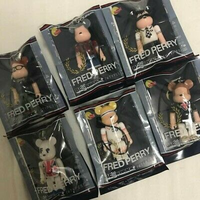 $49.99 • Buy Lipton X Be@rbrick 2012 Fred Perry 70% Strap Bearbrick  Complete Set Japan