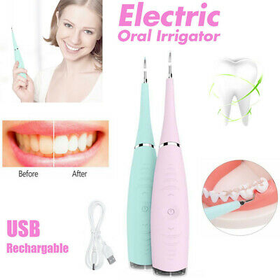 £14.39 • Buy Electric Tooth Cleaner Ultrasonic Oral Irrigator Cleaning Kit Teeth Stain Dental