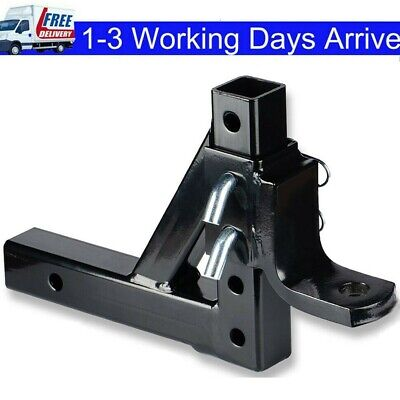 $39.85 • Buy Dual Ball Mount Drop Adjustable Hitch Tow Truck Trailer Pin Receiver Heavy Duty