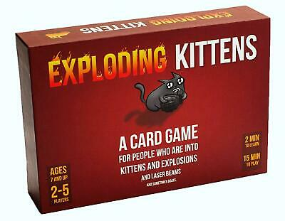 AU22.08 • Buy Exploding Kittens Original Edition Family Fun Card Game New Factory Sealed