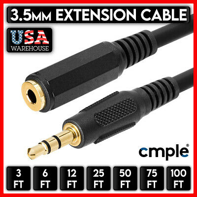 $5.97 • Buy 3.5mm Audio Extension Cable Stereo Headphone Cord Male To Female Car AUX MP3 Lot