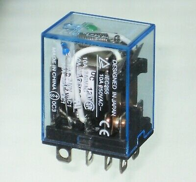 £5.25 • Buy Omron 12V DPDT ╍ 10A 2 Pole LY2N Relay ╍ DC Coil With Indicator LED