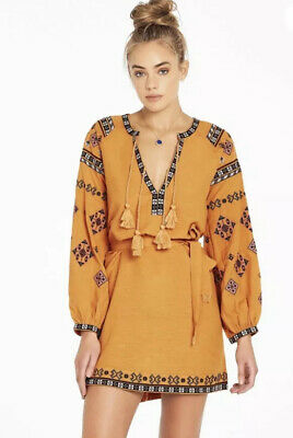 AU50 • Buy TIGERLILY Ladies Azar Dress Sz 8AUS Orange Embroidered.