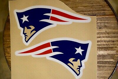 $18.99 • Buy New England Patriots Clear Face Decals 16mil Vinyl For Full Size Helmet