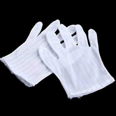 $2.47 • Buy 1Pair Anti-skid Anti-static Glove Striped PC Computer Working Repair Safe Gloves