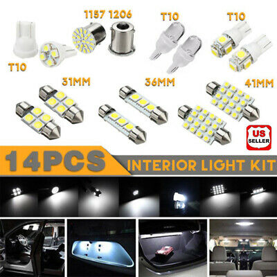 $7.45 • Buy 14Pcs/Set LED Interior Package Kit For T10 36mm Map Dome License Plate Lights US