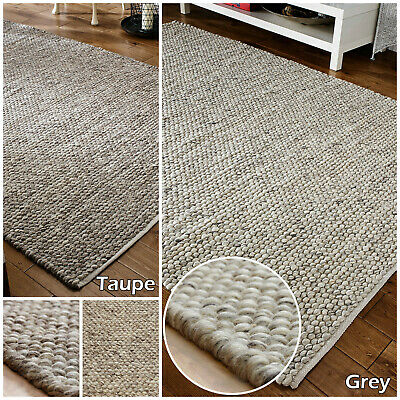 New Wool 3d Clearance Large Thick Grey Taupe Tufted Modern Sale Quality Area Rug • 98.99£