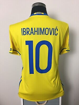 AU132.78 • Buy IBRAHIMOVIC #10 Sweden Home Football Shirt Jersey 2016/17 (M)