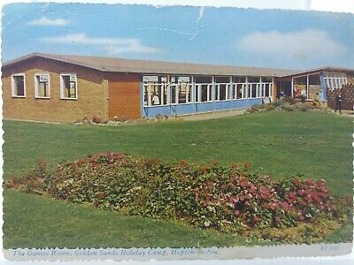 Vintage Postcard The Games Room Golden Sands Holiday Camp Hopton On Sea 1960s • 16.75£