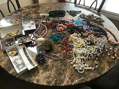 $ CDN45.65 • Buy Vintage Jewelry Lot Good Quality Sterling Silver-beads-braclets And Ear Rings