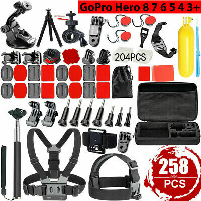 AU31.99 • Buy 258pcs Accessories Pack Case Floating Monopod Chest Head GoPro Hero 7 6 5 4 3 AU