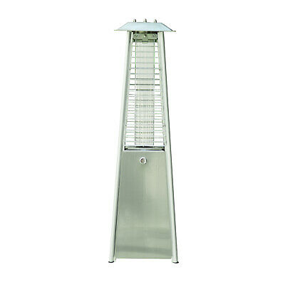 QUALITY Stainless Steel Pyramid Patio Heater, Outdoor Freestanding Gas Heating • 99.99£