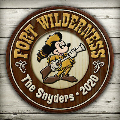 $44.95 • Buy Fort Wilderness CUSTOM Sign Disney World Prop Customized Reproduction Plaque 8