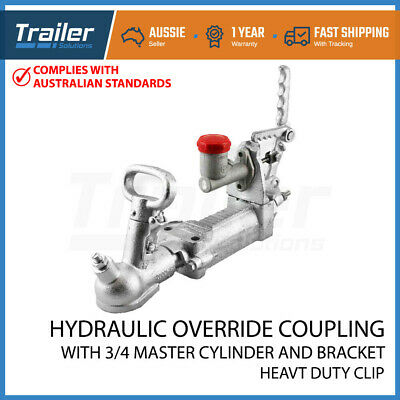 AU100.58 • Buy 2t 50mm Trailer Override Coupling Hitch Hydraulic Brake Cylinder  Galvanised