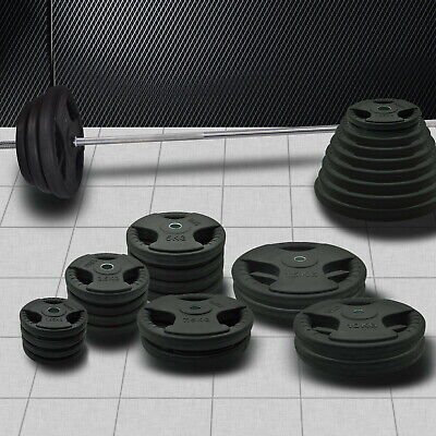 AU55.80 • Buy Standard Rubber Coated Weight Plate -1.25kg - 25kg Weight Set - Commercial Grade