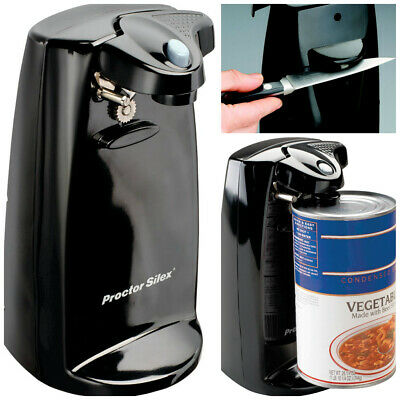 $24.99 • Buy Durable Power Can Opener With Built In Knife Sharpener Black Electric Countertop