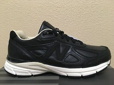 $125 • Buy NEW BALANCE 990v4 US 7 BLACK LEATHER WHITE M990FEB4 FEB4 MADE IN USA NB SECONDS