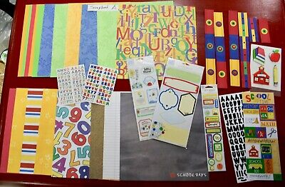 $19 • Buy HUGE Lot ~ Scrapbook Paper, Kits, Stickers Embelishments ~ Lot A ~ SEE 10 PHOTOS