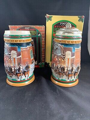 $ CDN24.19 • Buy New 1997 Budweiser Home For The Holidays Lidded Signature Edition Stein CS313SE