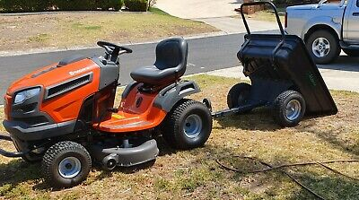 AU3500 • Buy Hasqvarna Ride On Mower TS 242  42 Inch Cut. With Tilt Trailer
