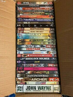 $11.50 • Buy DVD Lot WW2 Collection Daniel Boone John Wayne Basquiat Sherlock Holmes Emancipa