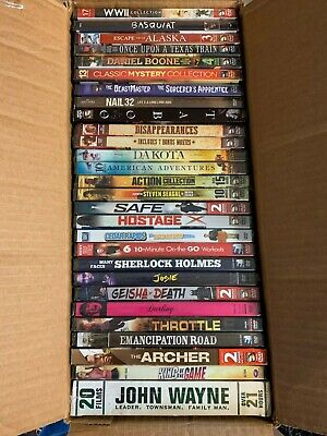 $10.51 • Buy DVD Lot WW2 Collection Daniel Boone John Wayne Basquiat Sherlock Holmes Emancipa