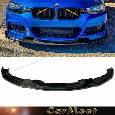 AU495.21 • Buy Carbon Fiber Front Lip HM Look For 12-16 F30 F31 3-SERIES Factory M-Sport Bumper