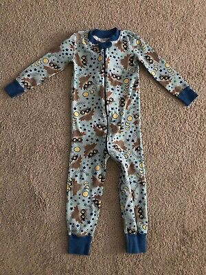 $16.99 • Buy Hanna Andersson 90 Owl Zipper Pajamas One Piece 3T Blue