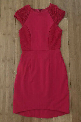 AU15 • Buy Forever New Hot Pink Cap Sleeve Pencil Dress Size 6