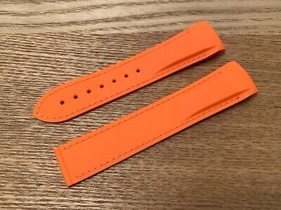 20 22mm For OMEGA Seamaster Planet Ocean Watch Silicone Rubber Strap Band Orange • 19.90£