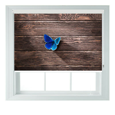 Minimalistic Butterfly Wood Photo Blackout Roller Blinds Bed Room Kitchen 2345ft • 65£