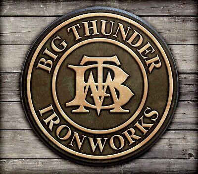$44.95 • Buy BIG THUNDER MOUNTAIN IRON WORKS Wood Sign Plaque Reproduction Prop Disney World
