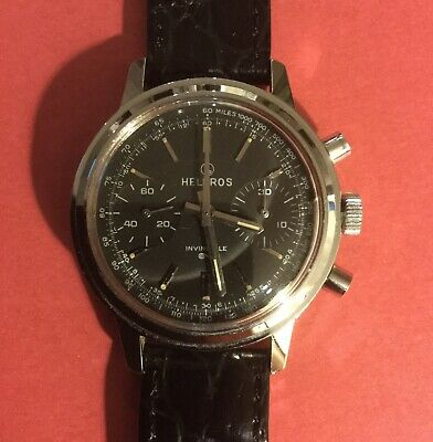 $ CDN918.90 • Buy Vintage Helbros Commander Chronograph Watch - Excellent Condition