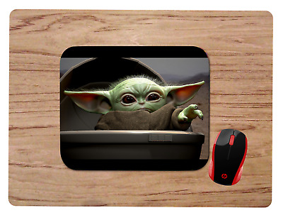 $10.99 • Buy Baby Yoda Uses The Force Mousepad Mouse Pad Home Office Gift