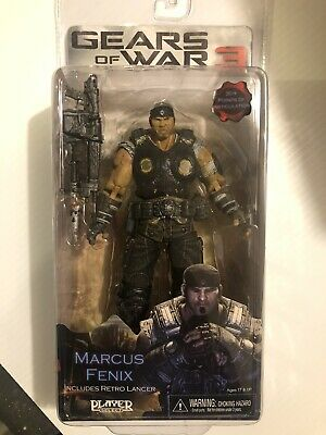 $55 • Buy Gears Of War 3 Series 1 MARCUS FENIX RARE !!!  7  Retro Lancer NECA GOW
