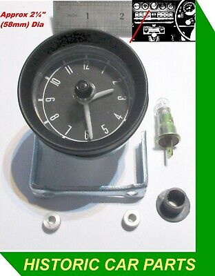 """£199.99 • Buy 2¼"""" (58mm) DASHBOARD 12v ANALOGUE CLOCK For Classic/Historic Vehicles 1960-70"""