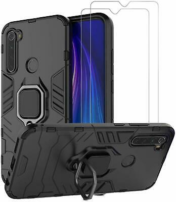 $16.99 • Buy For Xiaomi Redmi Note 8 Case With Screen Protector Tempered Glass Ring Black NEW