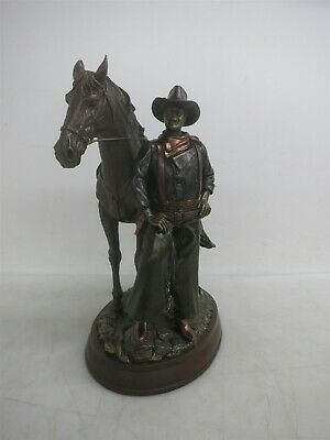 $12.50 • Buy Bradford Exchange 13  John Wayne Legend Of The West Cold Cast Bronze Sculpture