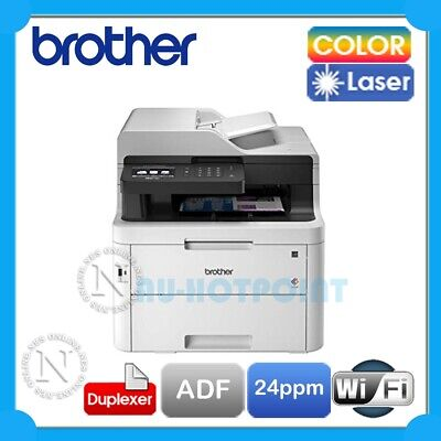 AU585 • Buy Brother MFC-L3750CDW Multifuction Wi-Fi Colour Laser Printer+Duplex+ADF L3745CDW