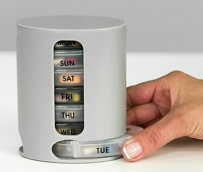 Weekly Pill 7 Day Organiser Large Stacking Tower 4 Daily Compartment Tablet Box • 4.98£