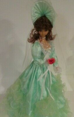 $ CDN13.13 • Buy Victorian Porcelain Doll With Mint Green Dress