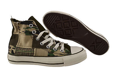 Converse CT Military Patch Hi Olive Trainers/Shoes Camouflage 101913 Olive • 54.75£