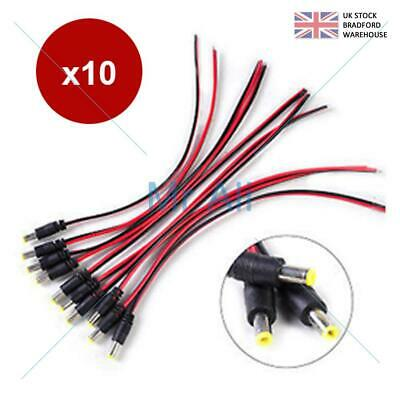2.1/5.5mm DC Power Supply Extension Cable 12V For LED CCTV Camera DVR PSU Lead • 2.95£