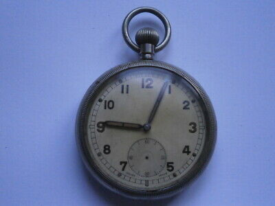 Vintage Gents MILITARY POCKET Watch WW2 Mechanical Watch Spares Or Repair GSTP • 12£
